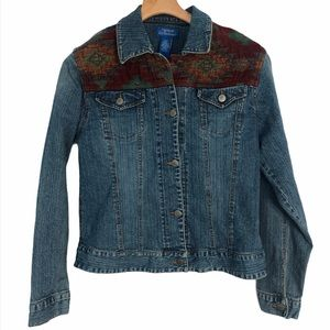 Natural Reflections Denim Jacket Size Medium